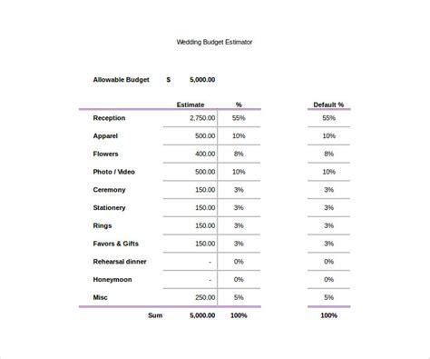 Wedding Budget Template Pdf by 9 Wedding Budget Worksheet Templates Pdf Doc Free