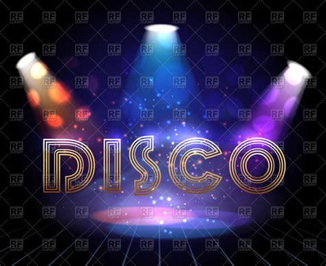 disco flyer template disco background with spotlights for show invitation