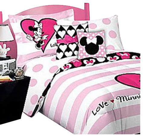 minnie mouse bedding twin minnie mouse bed sheet set love bedding accessories contemporary kids bedding by