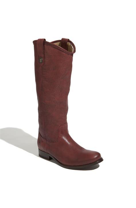 wine boots frye button boot in purple wine lyst
