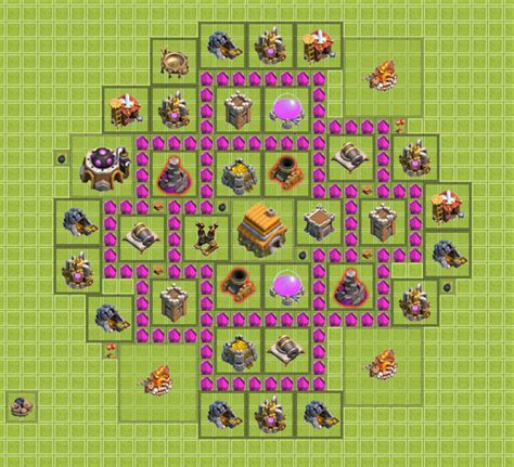 layout coc war base th6 th6 clan war base clash of clans wiki