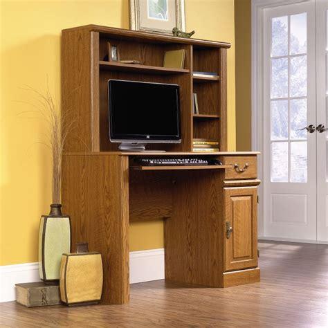 orchard carolina oak computer desk with hutch