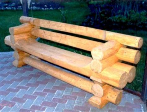 homemade log bench logs furniture and decorative accessories 16 diy home