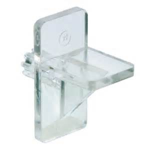 richelieu shelf support plastic 1 4 in clear the home