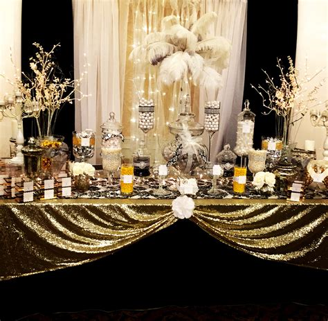 gold event themes prom poshness great gatsby theme pinteres