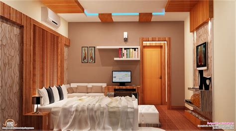 Home Bedroom Interior Design 2700 Sq Kerala Home With Interior Designs House