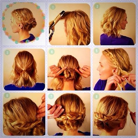 casual hairstyles how to casual updos for short to medium hair hollywood official