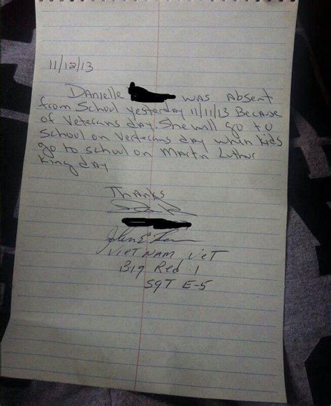 Parent School Letter Va Note From Parent About Child Going To School On Veteran S Day Are They Kidding We Must Do Better