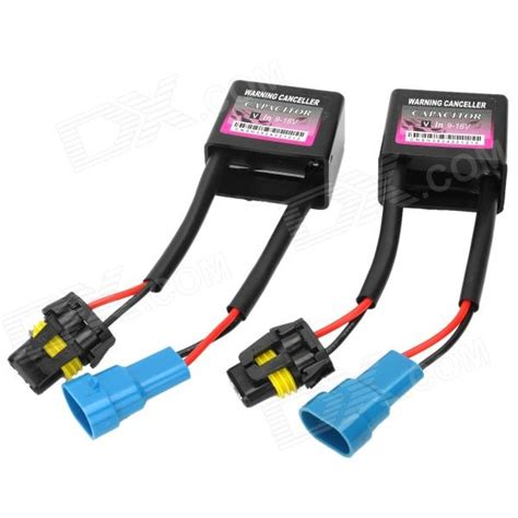 how to install warning canceller capacitor hid xenon l error warning canceller capacitor decoder black blue 9 16v 2 pcs free