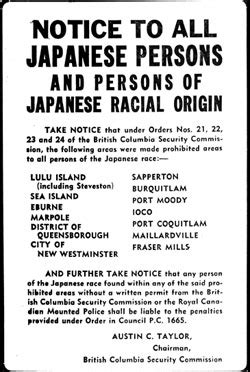 Japanese Canadian Internment Essay by March 2011 For An Inclusive Society Page 2
