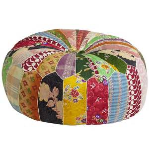Colorful Ottomans For Sale Bengali Patch Pouf Ottoman Pier 1 Imports