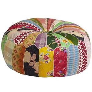 old bengali patch pouf ottoman pier 1 imports