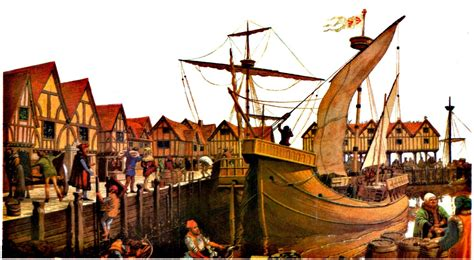 imagenes de barcos de la edad media el comercio europeo en la edad media 1100 1450