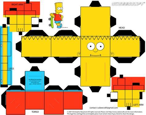 Simpsons Papercraft - the papercraft car interior design