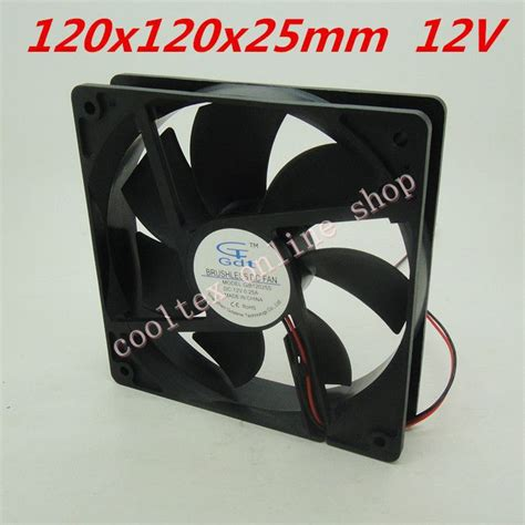 12 volt fans for cing aliexpress com buy 120x120x25mm 12025 fans 12 volt 2pin