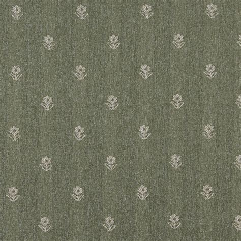 rustic upholstery fabric green and beige flowers country tweed upholstery fabric by