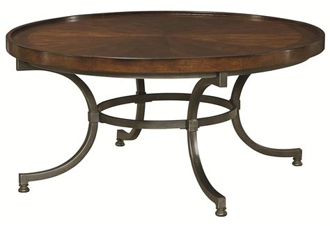 barrow and bench hammary barrow 358 911 round cocktail table with metal