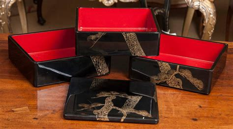 Sale Box Bento Sekat 5 Tutup japanese bento box for sale at 1stdibs