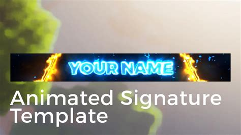Animated Forum Signature Template Quot Laser Lights Quot Youtube 468x60 Banner Template