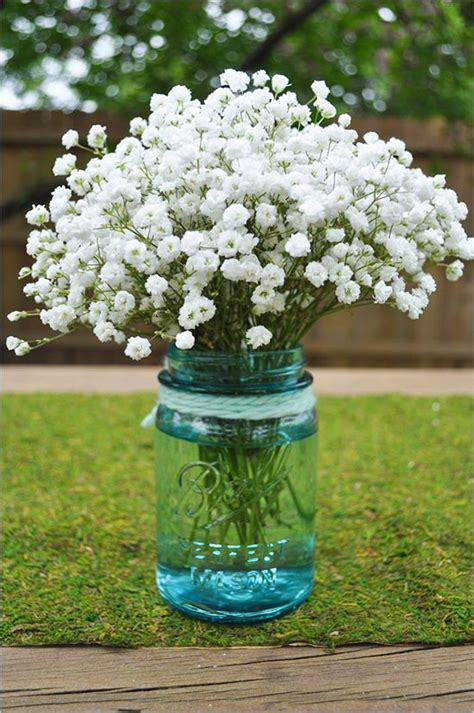 do it yourself wedding centerpieces with jars do it yourself babys breath arrangement floral arrangements jars and wedding
