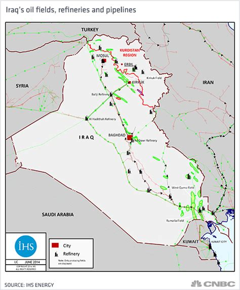 map of iraqi fields crude prices how the collapse of iraq could actually