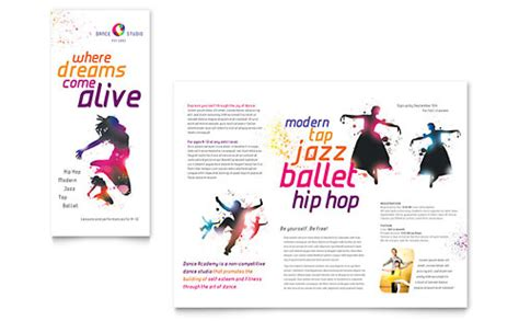 dance brochure template design