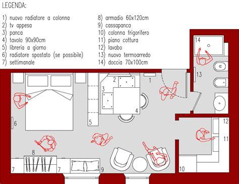 progetti mini appartamenti progetto 26 mq architettura a domicilio 174