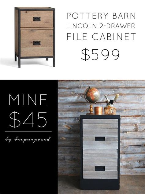 pottery barn knock file cabinet themed furniture