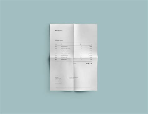 receipt template psd receipt template design