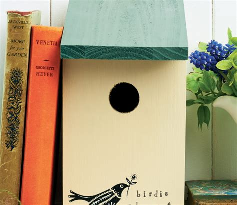 painted bird house  craft project  crafts