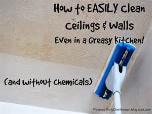 how to easily clean ceilings walls even in a greasy