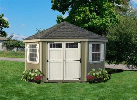 Amish Sheds Amish Wood Colonial Five Corner Shed