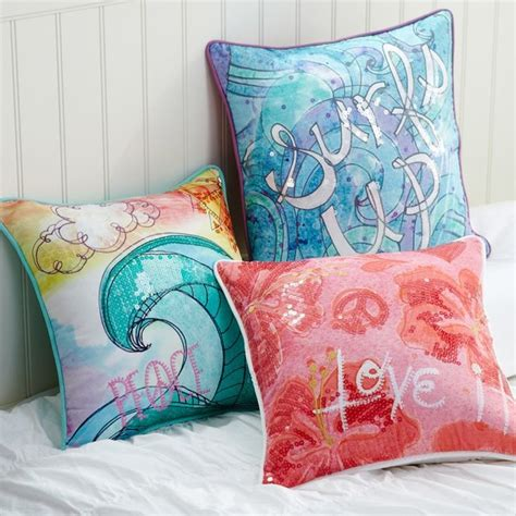 Surf Pillows surf n sand pillow cover decorative pillows other metro by pbteen