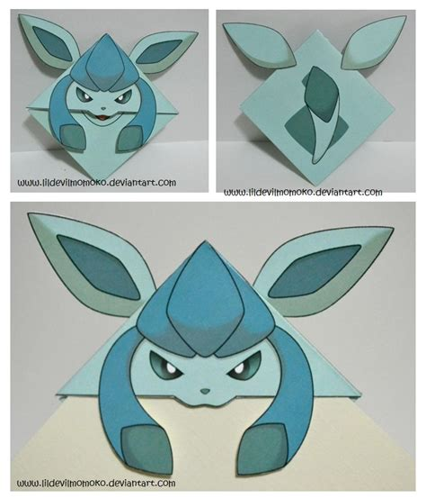 Glaceon Papercraft - glaceon by lildevilmomoko on deviantart