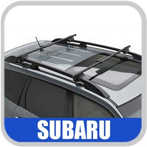 Subaru Roof Rack Cross Bars by 2003 2008 Subaru Forester Roof Rack Crossbar Set Oem Aero Crossbars Wedge Style Front And Rear