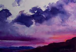 water color sunset imagining reality from a distance clarkston painter shows