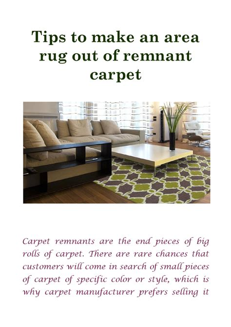 how to make a rug out of carpet tips to make an area rug out of remnant carpet authorstream