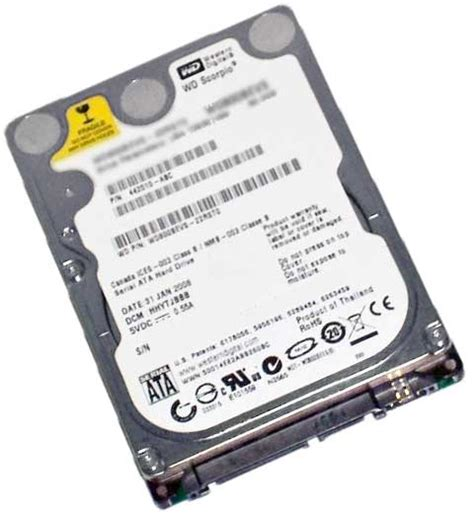 Hardisk Wd 160gb western digital wd1600bevt 60zct0 160gb 5 4k rpm sata 2 5 quot disk drive hdd