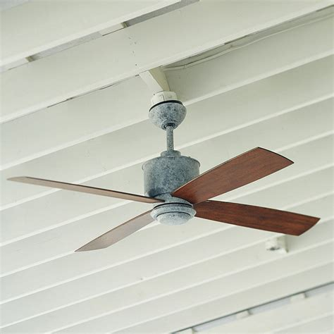 galvanized metal ceiling fan carter indoor outdoor ceiling fan ballard designs