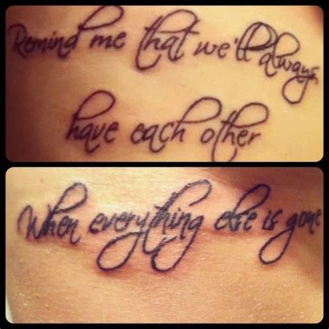 big brother tattoos quotes for infinity with