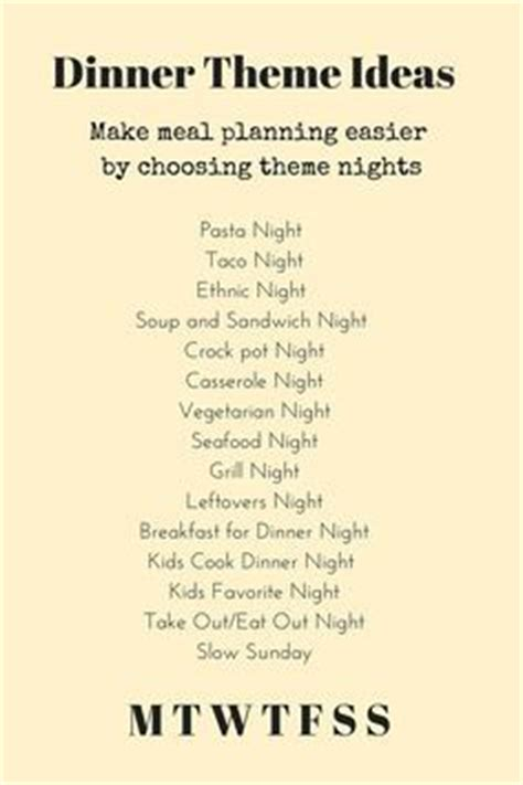 dinner menu ideas 17 best ideas about dinner themes on mexican
