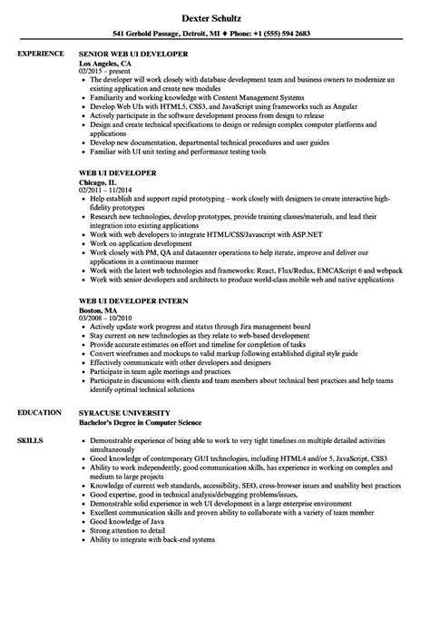 ui developer resume template ui developer description ms word invitation template