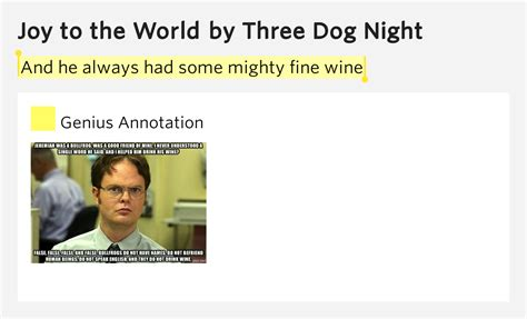 to the world lyrics three and he always had some mighty wine to the world lyrics meaning