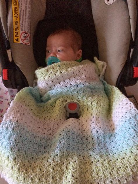 blanket for car not my nana s crochet crochet baby car seat blanket in primrose stitch free pattern
