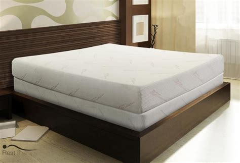 foam bed king memory foam mattress 8 inch eloquence ii by rest
