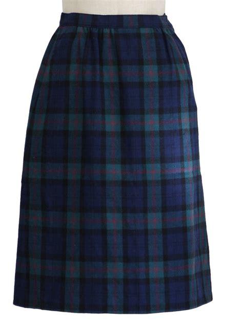 70s plaid skirt pendleton 70s pendleton womens blue