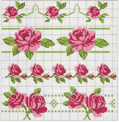 fiori a punto croce bordi fiori punto croce punto croce