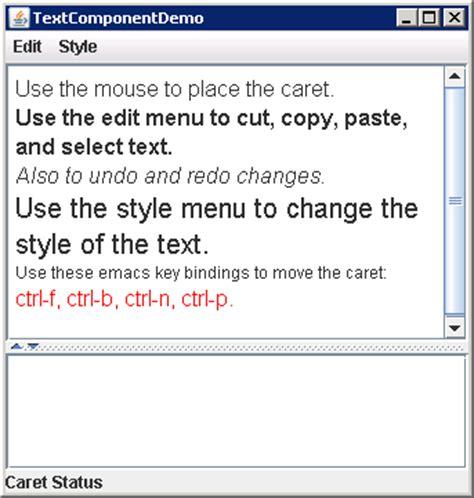 java swing display text editor based on jtextpane jtextpane 171 swing 171 java tutorial