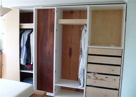 bedroom wardrobe built around chimney breast diy