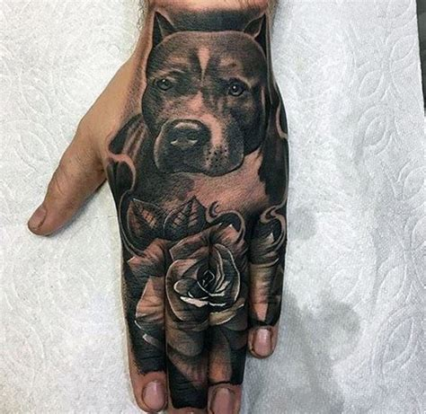 tattoo hand dog 50 pitbull tattoo designs for men dog ink ideas